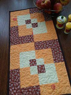 LubkaPatchwork / Oranžová patchwork štóla Quilts, Blanket, Bed, Home, Scrappy Quilts, Stream Bed, Quilt Sets, Ad Home, Blankets
