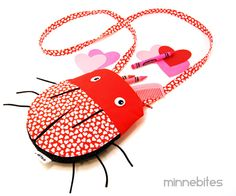 Love Bug Purse by MinneBites / Handmade Valentine Gift for Girls - Red Hearts Ladybug - Cross Body Purse - Cute Toddler Tote - Animal Bag by minnebites on Etsy https://www.etsy.com/listing/174745299/love-bug-purse-by-minnebites-handmade