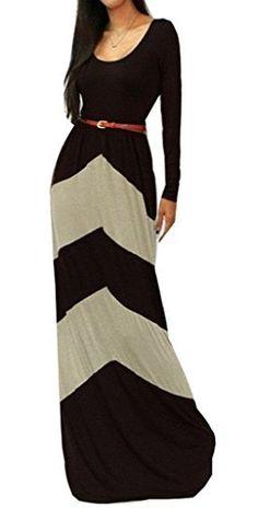 Englady Chevron Color Blocked Long Sleeve Waisted Maxi Dress Englady, http://www.amazon.com/dp/B012SSYQCY/ref=cm_sw_r_pi_dp_xbMDwb1CQQQEA
