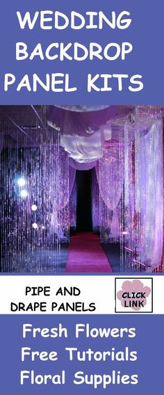 http://www.wedding-flowers-and-reception-ideas.com/wedding-backdrop-panels.html  DIY decorating ideas for backdrops, including crystal curtains and drapes