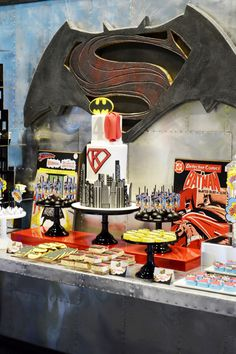 Batman Vs Superman Dessert Table