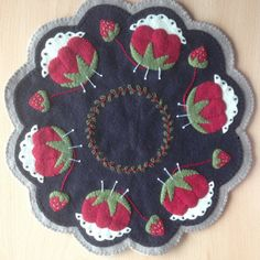 Memeres Pincushion Woolfelt Candlemat kit by SewWoolly on Etsy, £16.00