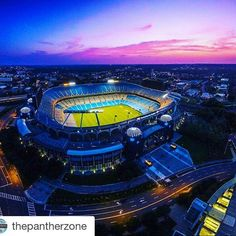 #Repost @thepantherzone with @repostapp ・・・ What a view.  #PANTHERNATION #KEEPPOUNDING #thepantherzone #Charlotteology #Charlotte #UptownLiving #CLT #QueenCity #uptowncharlotte #704 #QC #CLTNC #citylife #gameday #Panthers #playoffs #nfl #nflsunday #ChampionshipSunday #gameday