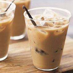 iced coffee....and love the vanilla bean for presentation!