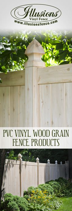Authentic PVC Vinyl Wood Grain Eastern White Cedar Fence From Illusions Vinyl Fence is An Amazing New Home Decor Idea for your back yard. #fence