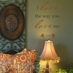 One of our many romantic custom vinyl wall and window quotes, lettering, sayings and phrases to add love to your walls!