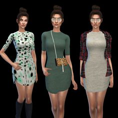 Leo 4 Sims: Tight Dress recolor • Sims 4 Downloads