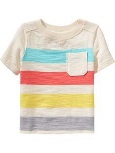 Striped Pocket Tees for Baby Product Image