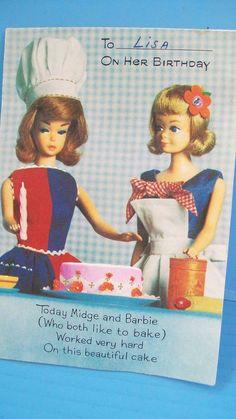 1967 sears fun timers set chris doll 3 vintage barbie pinterest original vintage 1965 barbie midge birthday card american greetings publicscrutiny Choice Image