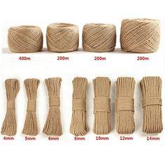 LanLan Handmade Jute Rope DIY Vintage Rope Decoration: Rope 100 Meters 1 Volumes of Yellow Soil Deco Tape, Twine Crafts, Jute Twine, Macrame Patterns, Diy Home Crafts, Sisal, Etsy, Plant Holders, Black Trim