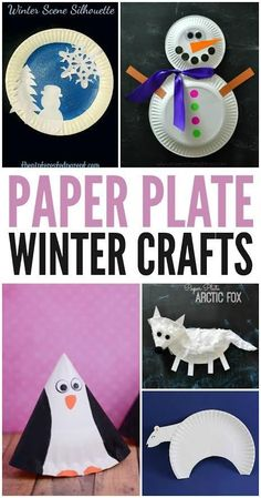 Looking to have some crafting fun with your kids while you're stuck inside this winter? These winter paper plate crafts for kids are so much fun, your family won't even care the weather is bad outside!