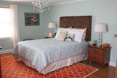 Behr Aqua Smoke paint - wall color for living room