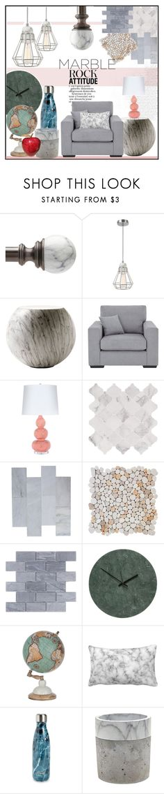 """rock steady!!"" by jckallan ❤ liked on Polyvore featuring interior, interiors, interior design, home, home decor, interior decorating, Liz Claiborne, Cappellini, Worlds Away and WALL"
