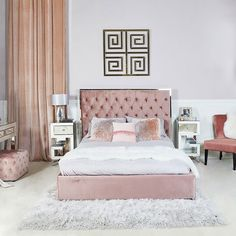 [New] The 72 Best Home Decor Ideas Today (with Pictures) Bohemian - Upholstered in a luxurious rose pink style fabric the Monaco Bed frame will bring an enchanting touch to any bedroom Finance Is also available Bed Goals, Velvet Bed, Pink Velvet, King Size Bed Frame, Home Decor Bedroom, Bedroom Ideas, Bedroom Signs, Master Bedroom, Upholstered Beds