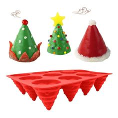 (This is an affiliate pin) Fiesta 3D 12 Holes Christmas Tree Shape Silicone Bakeware Cake Mold Baking Mold Chocolate Kitchen Measure Bakvormen Baking Set: Red Candy Making Supplies, Silicone Bakeware, Baking Set, Tree Shapes, Christmas Tree, Christmas Ornaments, Cake Mold, 3d, Chocolate