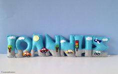 Kids Room Felt Name Banner Wall Door Hanging by HomeMadebyArtemi