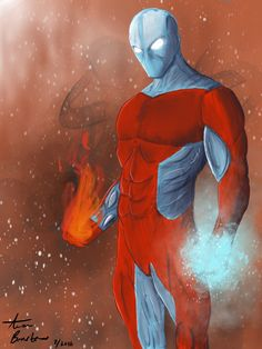Fire and Ice Fire And Ice, Batman, Illustrations, Superhero, Fictional Characters, Art, Art Background, Illustration, Kunst