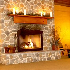 We love our cozy, stone fireplace at Beyond Broadway. It makes guests feel right at home and adds some spark especially in the fall and winter!