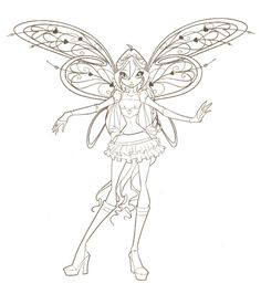 fairies to print and color | Winx Club Coloring Pages - Winxclub! Photo (18537794) - Fanpop ...