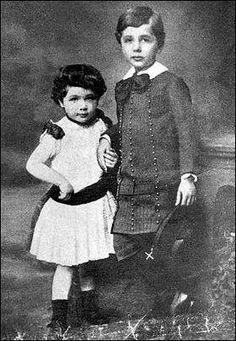 A rare photo of Albert Einstein and sister Maria Maja