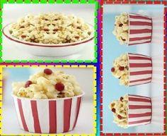Pipoca Caramelizada com MARSHMALLOW: - 13- 15 xícaras de pipoca, levemente salgado (eu usei apenas pop magro para torná-lo mais fácil) 1 xícara de manteiga 16 oz saco mini marshmallows 3/4 xícara de açúcar mascavo 1/2 xícara de mini m & m de -Opcional