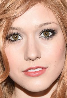 Close-up of Katherine McNamara at the 2014 Teen Vogue Young Hollywood party. http://beautyeditor.ca/2014/10/01/teen-vogue-young-hollywood-party-2014
