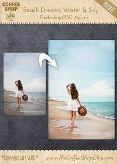 "The CoffeeShop Blog: CoffeeShop ""Beach Dreams Water & Sky"" Photoshop/PS..."