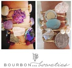 Bourbon and Boweties handcrafted bangles! Available at Sweet Designs Boutique.