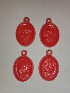 BEATLES 1960s Vintage Gumball Charms Set of FOUR Gumball, Fleas, The Beatles, 1960s, Basement, Charms, Christmas Ornaments, Antiques, Holiday Decor