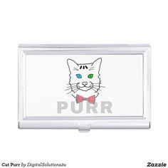 Cat Purr Business Card Case