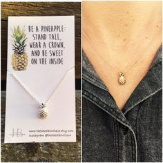 Looking for some fresh ideas for stocking stuffers? Look no further! Our friends @thehazelboutique have this Dainty Pineapple Necklace available in silver or gold. Only $8!! Cute by itself or layered with other pieces.