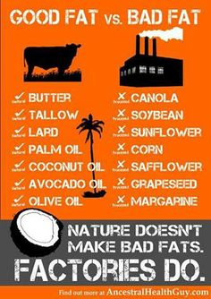 Nature doesn't make bad fats, corporations do..