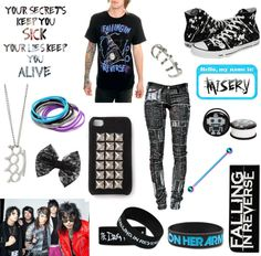 """""""FALLING IN REVERSE"""" by foreversynyster ❤ liked on Polyvore"""