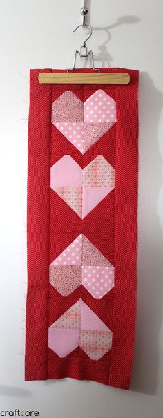 Mirrored Heart Valentine's Day Table Runner - Craftcore