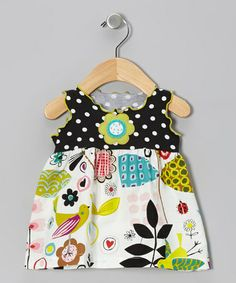 Take a look at this White Crazy Flower Swing Top - Infant & Girls by Mis-Tee-V-Us on #zulily today!