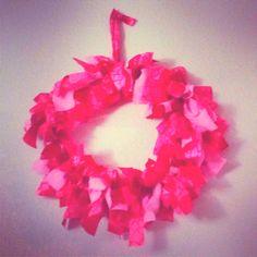 Fabric wreath, craft