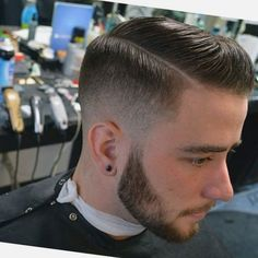 Side Part, Low Fade...To hard part or not to hard part is the question...  Hairstyles for men - Fade Hairstyles for men - men's Hairstyles