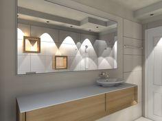 10. Lo specchio a tutta parete allarga la percezione dello spazio e aumenta la luminosità dei rivestimenti