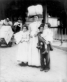 Immigrants at Ellis Island.