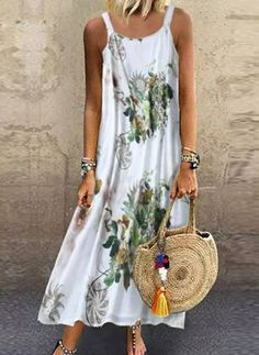 Buy Color Block Round Neckline Sleeveless Maxi Shift, Dress in the online store - BigShopStyle Shift Dresses, Maxi Dresses, Maxi Dress Summer, Summer Dresses, Vacation Dresses, Maxi Dress With Sleeves, Short Sleeve Dresses, Floryday Vestidos, Maxi Robes