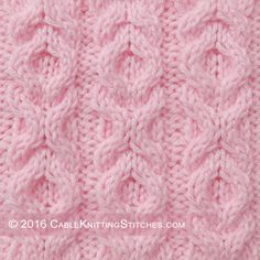 Cable Knitting Stitches » Hugs and Kisses stitch - pattern 1