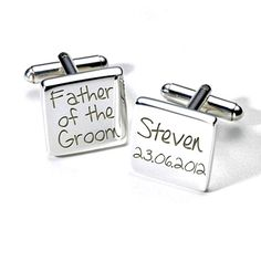 Aye Do Ltd - A2WED010 Father Of The Groom Personalised Cufflinks (ss), £19.99 (http://www.ayedoweddings.co.uk/a2wed010-father-of-the-groom-personalised-cufflinks-ss/)