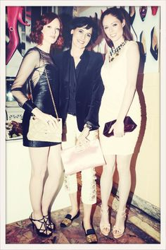 Three Models Icons : #InesdelaFressange, #KarenElson and #CocoRocha at #RogerVivier x Rizzoli #NewYork Book Launch.