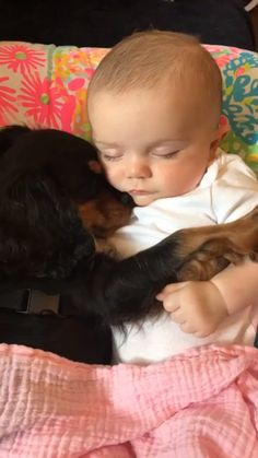 So sweet 😍❤️❤️ - Dogs - # sweet - Hunde Fotos - Animals Cute Funny Animals, Cute Baby Animals, Funny Cute, Funny Babies, Funny Dogs, Cute Babies, Babies With Dogs, Dogs And Kids, Cute Baby Videos