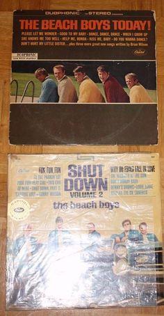 2x BEACH BOYS 12  VINYL POP 1960 Sixties