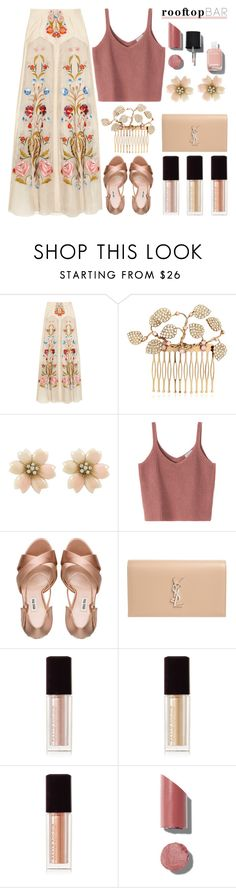 """""""Summer Date"""" by stavrolga ❤ liked on Polyvore featuring Temperley London, Vittorio Ceccoli, Miu Miu, Yves Saint Laurent, Kevyn Aucoin, Chanel, polyvoreeditorial, polyvorecontest, summerdate and rooftopbar"""