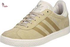 adidas Gazelle Fashion, Sneakers Basses Mixte Enfant, Marron (Linen Khaki/Clear Brown/Chalk White), 36 2/3 EU - Chaussures adidas (*Partner-Link)