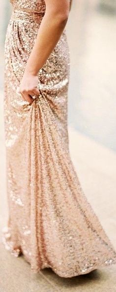 Luxe Glimmer   Rose Gold Sequin