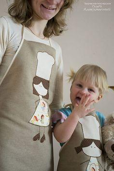 Фартуки для мамы и дочки - фартук,для мамы и дочки,для мамы,8 марта,8 марта подарок