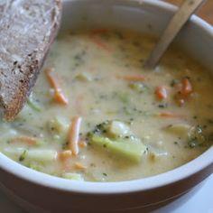 Cheesy Broccoli Soup A delicious addition to my recipe book.